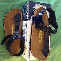 Birkenstock Cairo New in Box 41 Blue Patent Photo