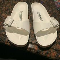 Birkenstock Classic Madrid Eva White Mules Sandals Size 39 or 8 Us   Photo