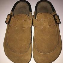 Birkenstock Clogs 39 Size 8 Almanor Tatami Tan Leather Suede Moc Toe Mules Photo