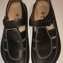Birkenstock Closed Toe Fisherman Mule Clog Sandal Brown Leather Size 39 8 Photo