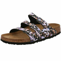 Birkenstock Florida Slides Regular Floral Fades Black Birko Flor Shoes Sandals S Photo