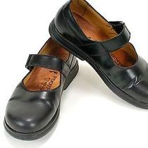 Birkenstock Footprints 37 Black Leather Mary Janes Womens Shoes Flats  16956 Photo