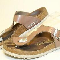 Birkenstock Germany Made Gizeh Womens 5 36 Brown Thongs Sandals Flats Shoes Photo