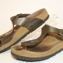 Birkenstock Germany Made Gizeh Womens 7 38 Birko Flor Thongs Sandals Shoes Photo