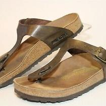 Birkenstock Germany Made Gizeh Womens 7 38 Metallic Birko Flor Sandals Shoes Photo