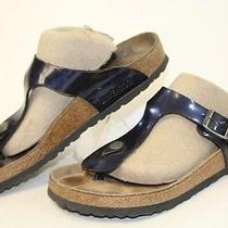 Birkenstock Germany Made Womens 8 39 Gizeh Blue Sandals Slides Shoes Gy Photo
