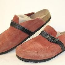 Birkenstock Germany Made Womens 9 40 Suede Leather Belted Clogs Shoes Fp Photo