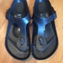 Birkenstock Gizeh Black Eva Flip Flops Sandals Water Friendly Size 37 L6 Photo