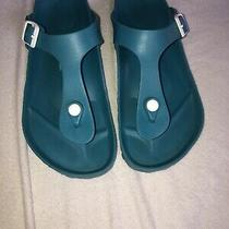 Birkenstock Gizeh Eva Teal Rubber Slide Sandal Size Eu 40  Photo