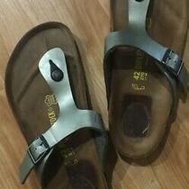 Birkenstock Gizeh Thong Silver  Women Summer Sandals Shoes Sz 42 L11 M9 Us 11 Photo