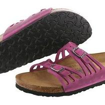 Birkenstock Granada 192593 Fuchsia Leather Soft Made in Germany Slippers Women Photo