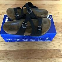 Birkenstock Leather Salina Bs Womens 37 (Us 6) Camberra Black Sandals Shoes Photo