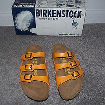 Birkenstock Made in Germany Florida Orange Sandals Size 5 1/2-6 New in Box Photo