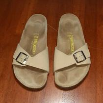 Birkenstock Madrid Big Buckle Tan Beige Sandals Mules Slippers Size 8 Free Ship Photo