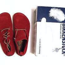 Birkenstock Men Us 10 Dundee Barn Red Suede Leather Casual Lace-Up 43 Shoe Boot  Photo
