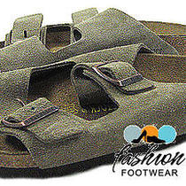 Birkenstock Mens Arizona Slide Sandals Shoes 10 Nwd (Tape Inside Right Shoe) Photo