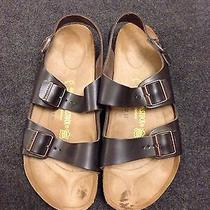 Birkenstock Milano Sandals - Size 46 - Like New - Hunter Brown Photo