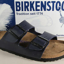 Birkenstock Mules Slippers Home Slippers Blue 051063 New Photo