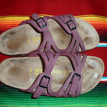 Birkenstock Palermo Purple Oiled Leather Soft Bed Sandal Eur Size 38 L7 M5  Photo