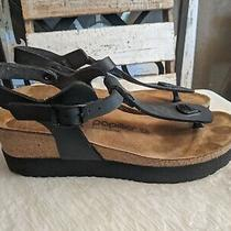 Birkenstock Papillio Ashley Women's Sandals Wedge Black Birko Flor Size 39/8n Photo