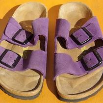 Birkenstock Purple Suede Gently Worn Sz 39 Photo