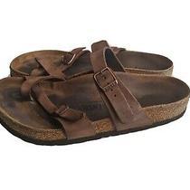 Birkenstock Sandals Size 38 Mayari Havana Regular Fit Brown Leather Photo