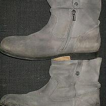 Birkenstock Sarnia Gray Leather Zipper Ankle Boots Shoes Women's Size 40 9 Photo