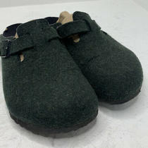 Birkenstock Size 38 W7/m5 Forest Green Wool Slip on Clogs Mules Photo