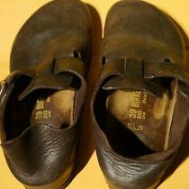 Birkenstock Size 39 Women's Leather Shoe London Clog Mule Sandal Cork Germany Photo
