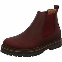 Birkenstock Stalon Chelsea Narrow Burgundy Nubuck Boot Shoes Ankle Sandals Slipp Photo