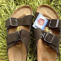 Birkenstock Suede Brown  37 Rare  Photo