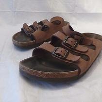 Birkenstock Tan Leather 3 Buckle Women's Sandals Size 6 Photo