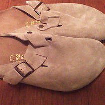 Birkenstock Tan Suede Men's Clogs Size 50/17 Regular Like New Photo