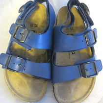 Birkenstock Tula Kids Navy Blue Buckle Sport Sandals Shoes Size 28 Us 10 Photo