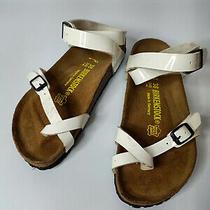 Birkenstock White Yara Women Summer Trend Sandals Shoe Sz 38 L7 M5 Photo