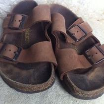 Birkenstock Women's 35 Size Us 4 Leather Sandals Nice Brown Suede Photo
