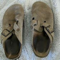 Birkenstock Women's 38 (7 Us) Boston Suede Mules Slides Slip-on Clogs Photo