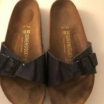 Birkenstock Womens 40 Navy Sandal Used Once Photo