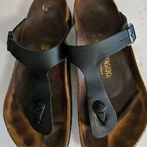 Birkenstock Women's Gizeh Birko Flor Regular Fit Sandals Black Size 40 Photo