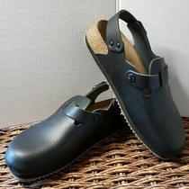 Birkenstock Womens Size 37 240 L6 Hard Footbed Buckle Mule Clog Slides Black Photo
