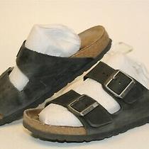Birkenstock Womens Size 7 38 Arizona Leather Slides Germany Made Flat Shoes Photo