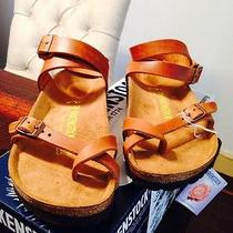 Birkenstock Yara Sandals Antique Brown 39 New Photo