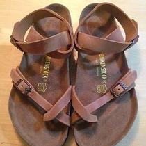 Birkenstock Yara Size 41 Leather Antique Brown Photo