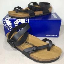 Birkenstock Yara Womens Sz 10 (Eu41)reg Black Birko Ankle Strap Sandals X4-722 Photo