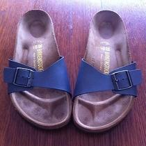 Birkenstocks Madrid Silver / Grey Like New Photo