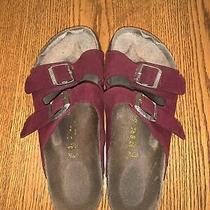 Birkenstocks Red Suede Size 37 235 Photo
