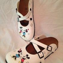 Birki's/birkenstock Disney Mickey & Minnie Mary Jane Mule Shoes Size L9 260 40 Photo