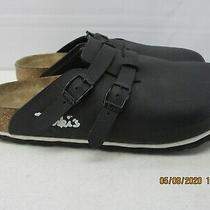 Birki's Birkenstock Women's Black Birko-Flor Cork Insole Mules Shoes   L8  M6 Photo
