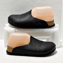 Birki's Birkinstoc Shoes Size 5-5.5 Us/36 Eu Black Leather Womens Slippers Mules Photo