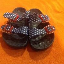 Birki's by Birkenstock American Flag Sandals Blue Red White Size 37 Photo